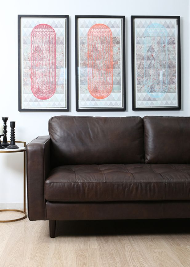 A striking example of Mid-century style with stylish piping and accent button detail for a statement retro look. Scott comes in a premium full grain leather with a distinctive finish achieved from it's multi-stage vintaging process. #AndCo #DawsonandCo
