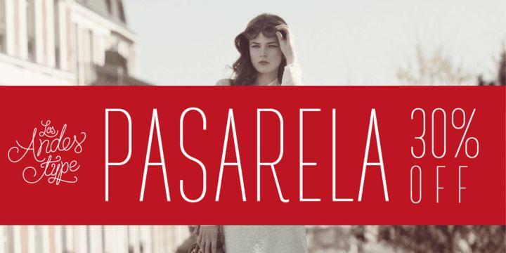 Pasarela (30% discount, from 7,69€) - http://fontsdiscounts.com/pasarela/