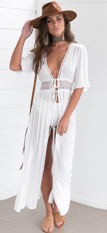 4e3fb929bb6e Women s Boho Cover up Cardigan Dress. Women fashion. Summer dress. Beach  fashion. Bohem style. Bohemian dress