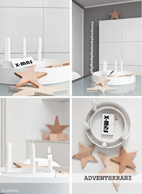 raumideen adventskranzinspirations adventskranz holz. Black Bedroom Furniture Sets. Home Design Ideas