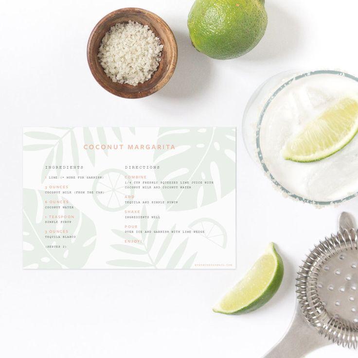 Margarita Recipe Card Download For Cinco De Mayo From