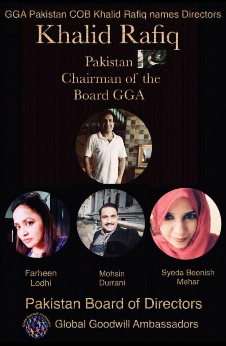 Mohsin Durrani Announced as the Director Board of Directors Global Goodwill Ambassador