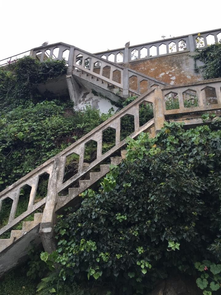 San Francisco, Alcatraz stairways at the island  http://tinytrek.blogspot.fi/2016/04/san-francisco-ca.html