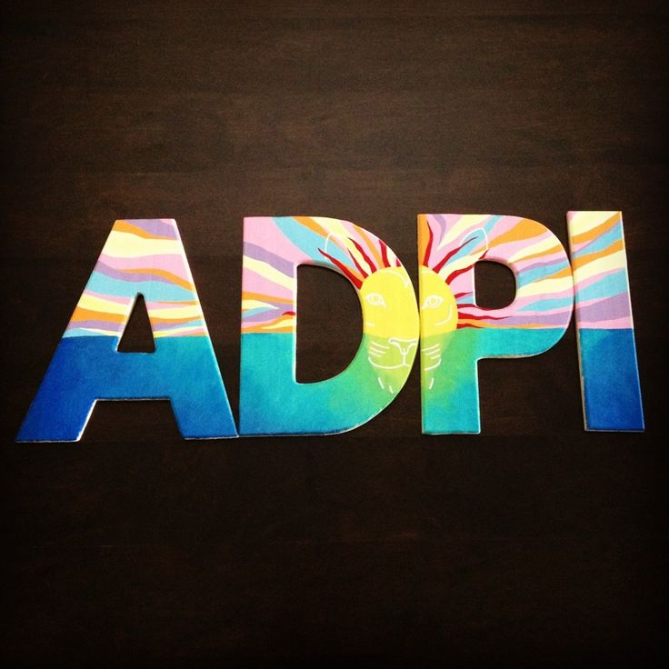 Alpha Delta Pi letters...