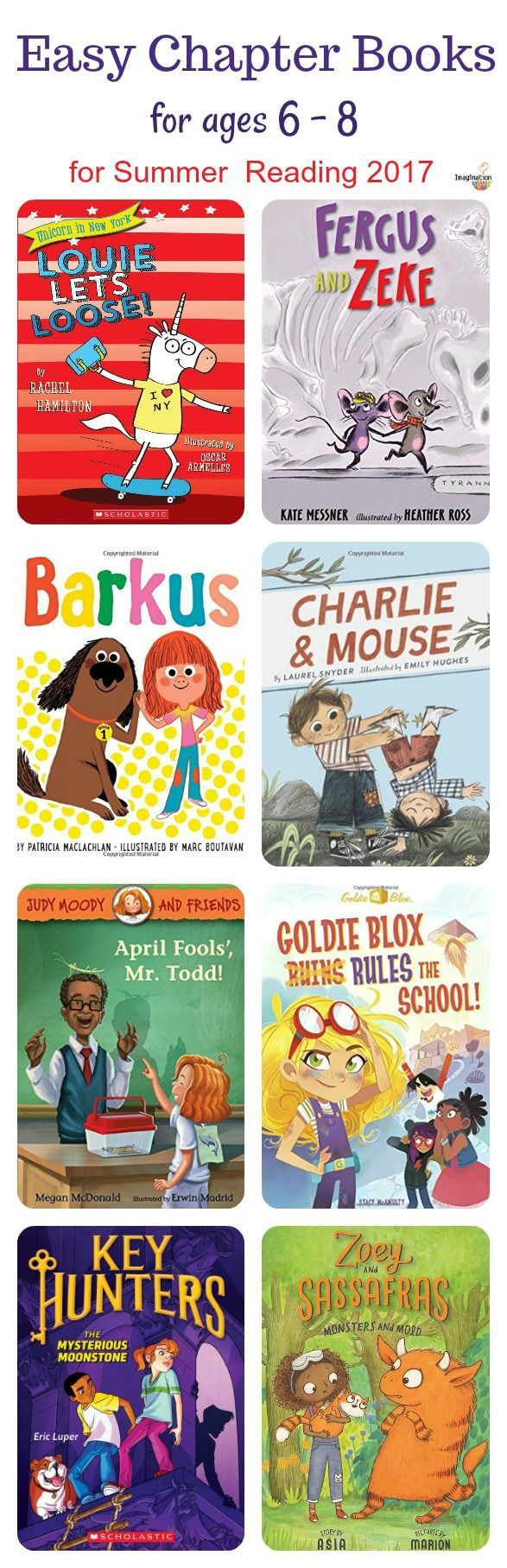 get your kids ages 6 to 8 reading with new, easy chapter books for 2017