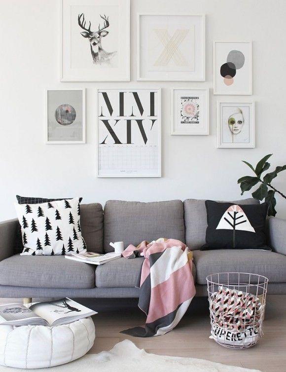 Decorar paredes con muuuchos cuadros