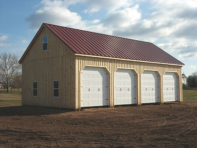 Farm equipment storage pole building yard ideas for Garage building designs