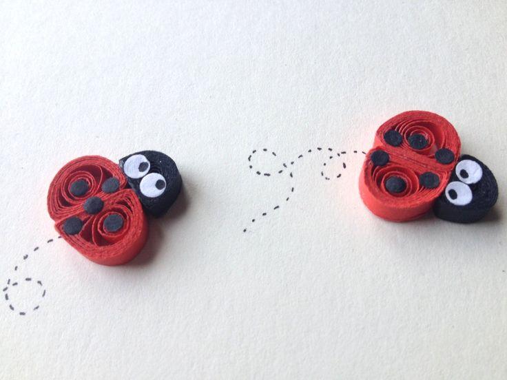 Ladybirds card Ladybugs© ElPetitTaller quilled art