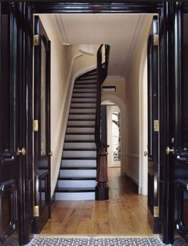 44 best brownstone hallway images on pinterest stairs for New york townhouse interior