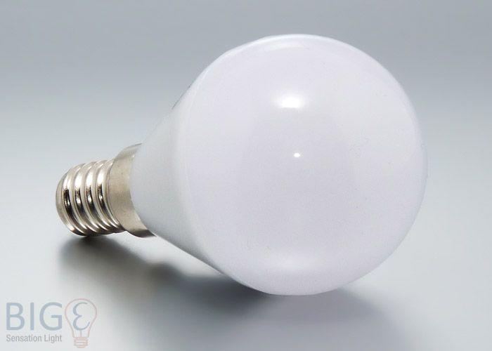 Bioledex TEMA LED Birne E14 warmweiß 5 Watt. Ersetzt 30 Watt Glühbirnen und ist sehr kompakt.  http://www.bige.de/LED-Beleuchtung/LED-Leuchtmittel/Fassung-E14/Bioledex-TEMA-LED-Birne-E14-warmweiss-5-Watt:--1730.html