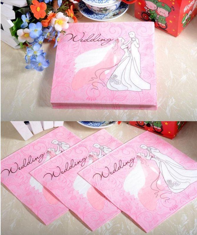 serwetki ślub wedding papier paper napkins