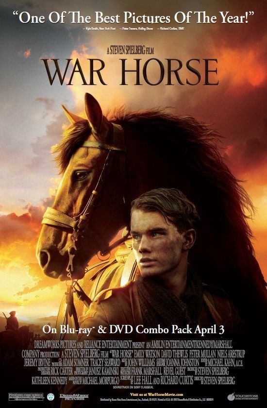 War Horse -- Spielberg's epic tale of incredible loyalty, hope and tenacity.♥♥♥