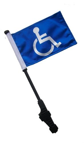 USA Small 6x9 inch Golf Cart Flag with EZ On/Off Pole
