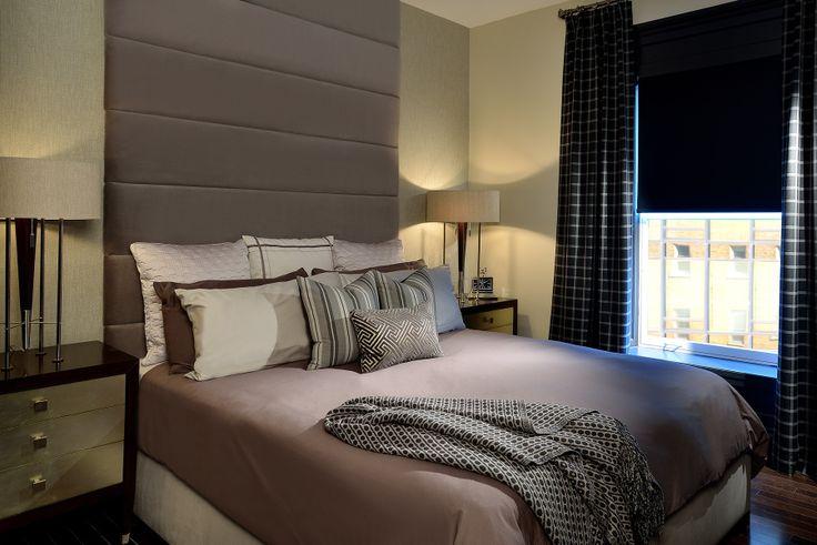 Client bedroom designed by Glen & Jamie from Peloso Alexander Interiors. #bedroom #GlenandJamie #design #lamp
