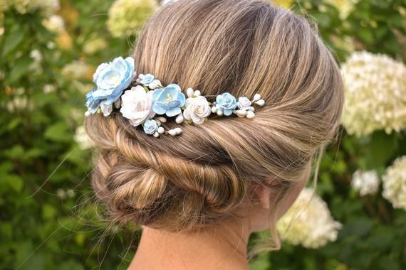 Blush Rose hair pins Fall wedding accessories Bride hair piece Bridesmaid flower hair pins Shabby Chic headpiece Rustic garden leaves pins