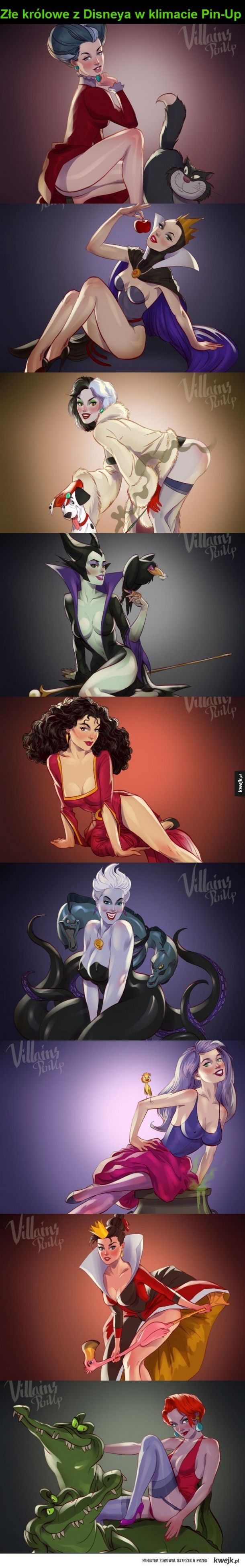 Villain Disney - Pinup version