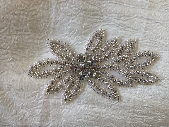 Big Rhinestone AppliqueWedding SASHBridal by SilverBridals on Etsy, $15.95  right size but don't know about big stones in the middle