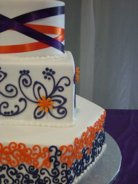navy blue and orange wedding cakes 17 best ideas about orange wedding cakes on 17756