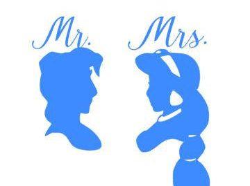 Novia y novio Sr. y Sra. calcomanías de vinilo por Personily