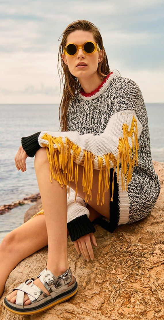 knitGrandeur: Loose Ends DIY swap out the sleves on a rag sweater with contrasting collar and then add golden fringe like a cowboy jacket......