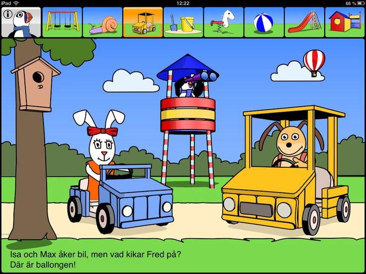Lek med Fred - en interaktiv pekboksapp | Pappas Appar