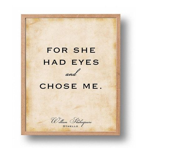 othello quote print william shakespeare classic literary