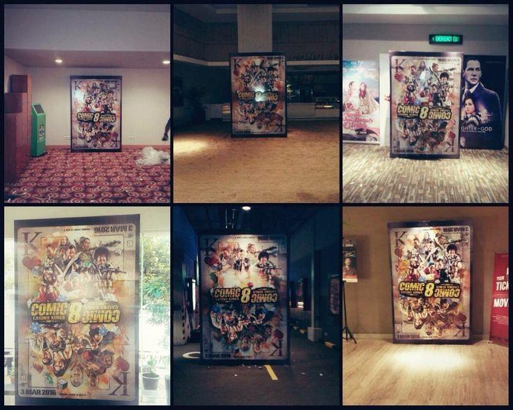 standee movie cinema comic8 part 2.. #indonesia movie