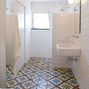 badrum: 1920S Bathroom, Subway Tile, Google Search, Morrocan Tile Bathroom, Bathroom Shower, Marrakech Design, Cement Tile, Bathroom Tile, Moroccan Tile