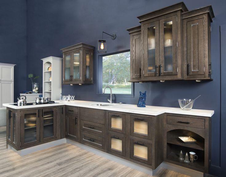 This Dark Brown Kitchen Cabinetry Is Stained With Our