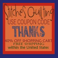 40% Off Storewide Thank YOU at Stitches Quilting Online Store - http://www.stitchesquilting.com/StitchesQuilting/40-off-storewide-thank-you-at-stitches-quilting-online-store/
