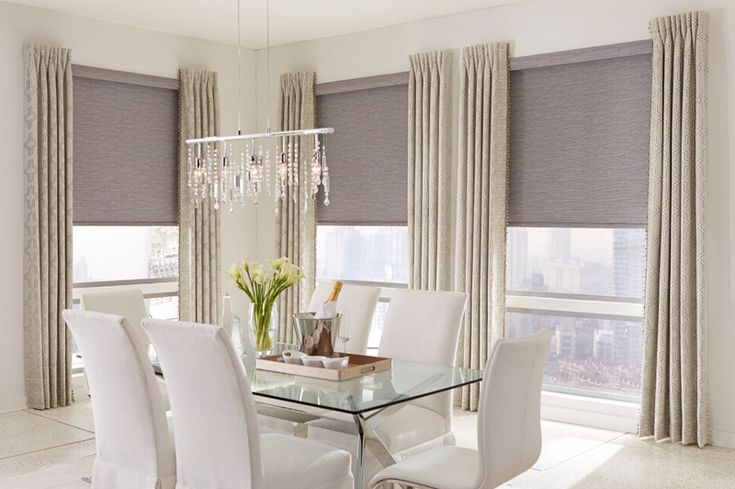 Roller Shades With Inverted Pleat Side Panels Blinds And