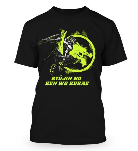 Overwatch Genji T-Shirt - Ryujin No Ken Wo Kurae