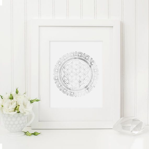 Sacred Geometry  Flower of Life  Silver by AnimaDolce on Etsy