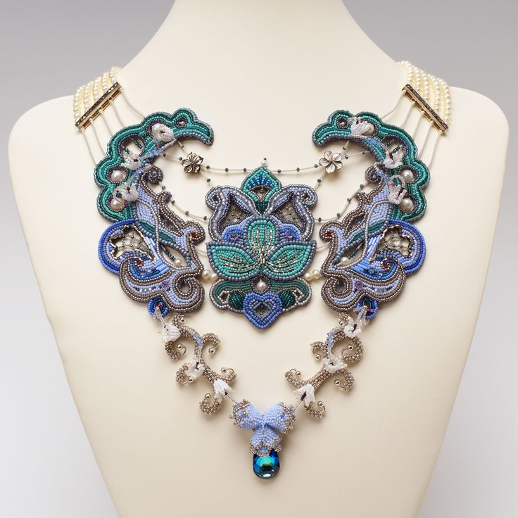 Best bead embroidered jewelry images on pinterest
