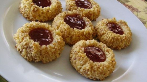 Thumbprint cookies are a Christmas tradition. Use your favorite jam to fill them, or use different flavors for a variety.
