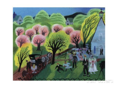 Church Wedding Pink Giclee Print by Mary Blair at AllPosters.com