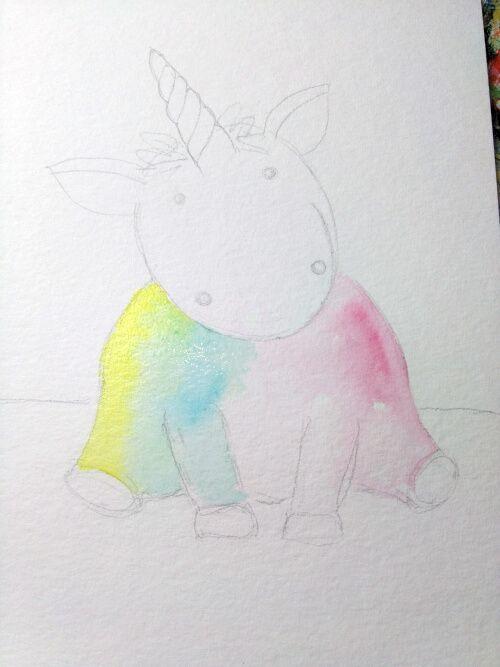 Einhorn zeichnen und malen