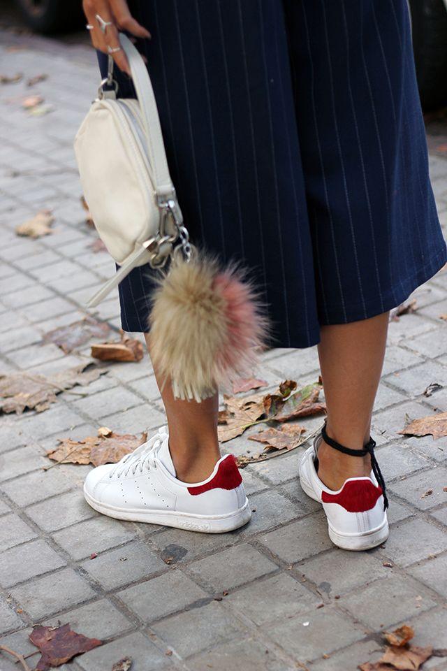 Zapatillas adidas deportivas Stan Smith Pony hair red | Coohuco