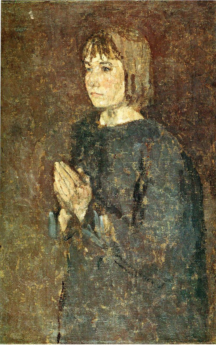 not identified by Gwen John. Post-Impressionism. portrait