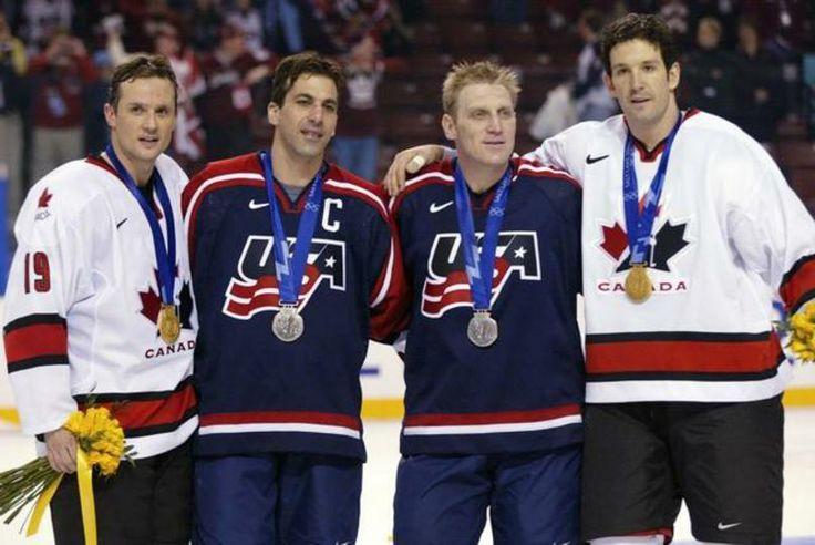 *Random Shanny pic* • Steve Yzerman, Chris Chelios, Brett Hull, Brendan Shanahan • Hall-of-famers • Olympic medallists • Detroit Red Wings