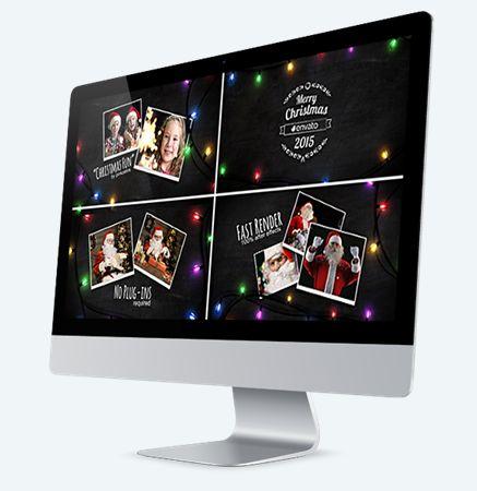 Проект для Новогоднего слай-шоу. Используется в Adobe After Effects.