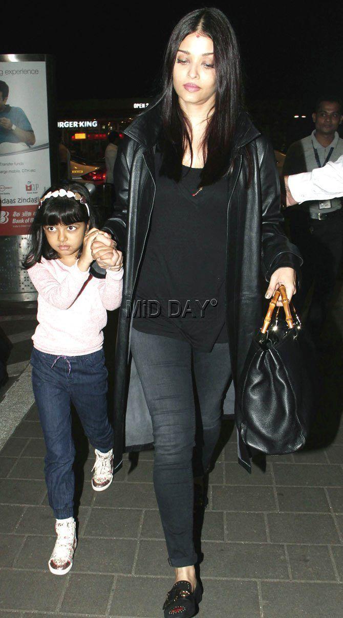 Photos: Aishwarya with Aaradhya, Sangeeta Bijlani at Mumbai airport-Entertainment  #middaybollywood #bollywoodactors #bollywoodmovies #bollywoodphotos #bollywoodfashion #bollywoodinstant #bollywoodgossip #bollywoodupdates #bollywooddiva #bollywooddivastyle #bollywoodbeauty