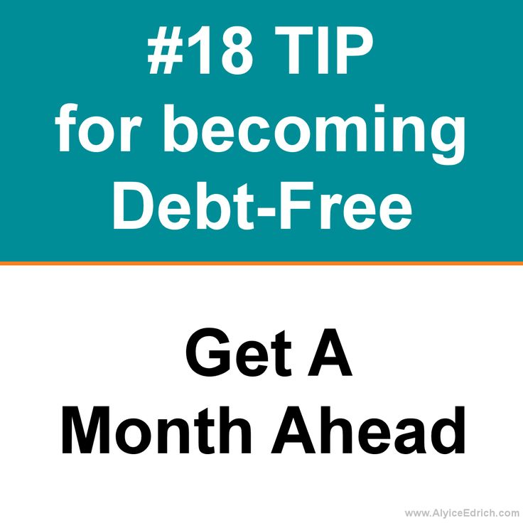Alyice Edrich - Debt Free Tips - Give yourself a little peace of mind. Before you start any savings account or create a debt-repayment plan, tally up how much it would cost you to survive in your current living condition for one month, based on the bare minimums (rent, utilities, food, insurance, minimum credit card payments, etc.). Once you figure out how much you'll need to survive on if you lost your job or were injured on the job, work extra hard to get that money into a savings account.