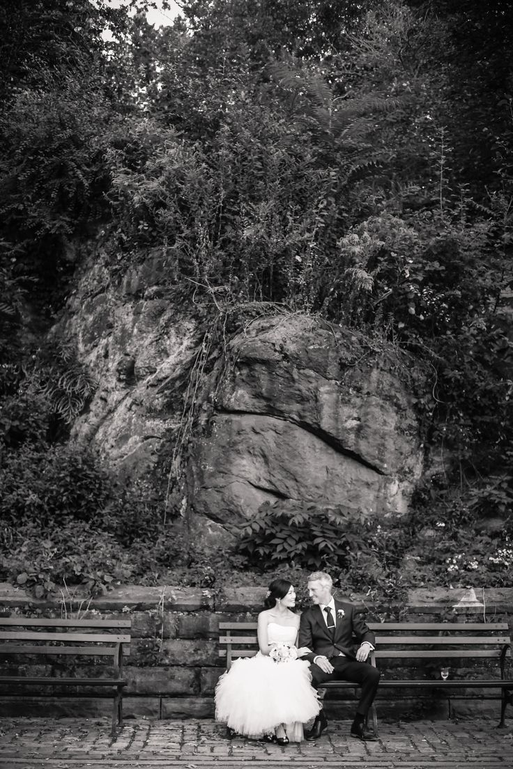 Bride and Groom in Central Park | Stylish and Hip Weddings | TheKnot.com
