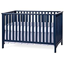 Child Craft Blue London Stationary 3-in-1 Crib, Blue finish adds visual interest to the nursery