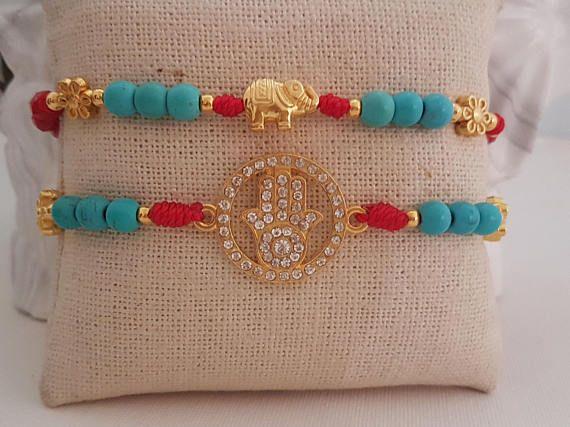 Hamsa Elephant / Lucky Bracelets. Arm Candy. Pulsera de Mano   #bracelets #sanvalentin #gift #redbracelets #luckybrand