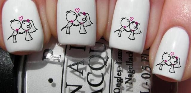 First Kiss Nail Transfer - The Wedding Faire