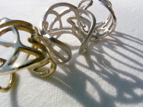 Lines Collection brass & silver rings!  B-Tal Jewellery!