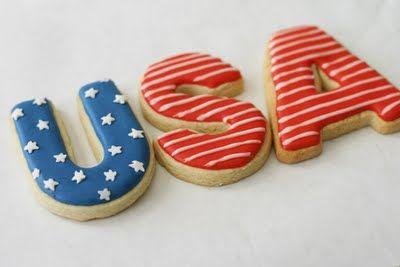 4th of July CookiesSugar Cookies, Food Ideas, Usa Cookies, Decor Cookies, Decorated Cookies, 4Th Of July, Cookies Cutters, July 4Th, July Cookies