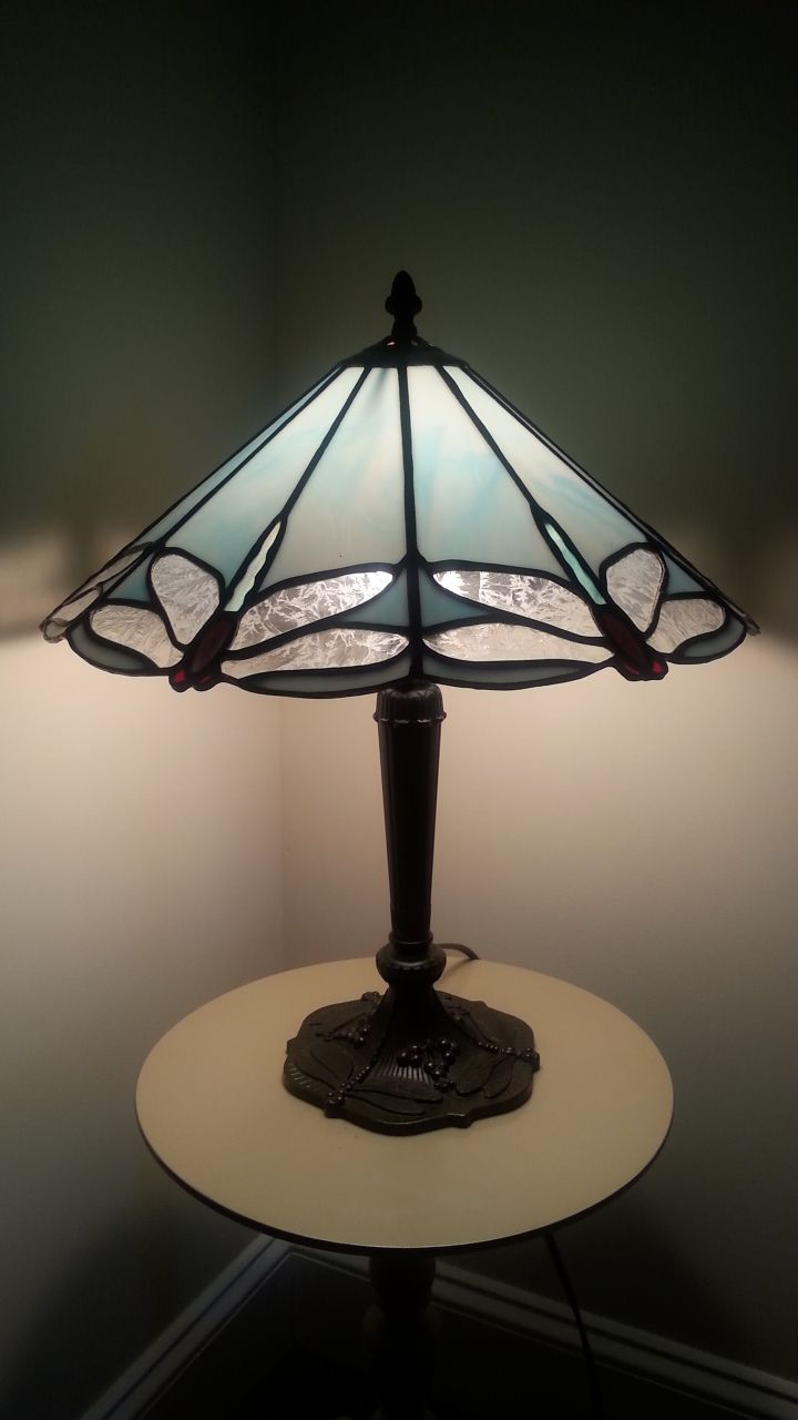 Dale tiffany floor lamps foter - Stained Glass Dragonfly Lamp I Have Made This In Many Variations Of Colors